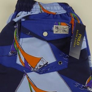 Polo Ralph Lauren Sailboat Traveler Swim Trunks